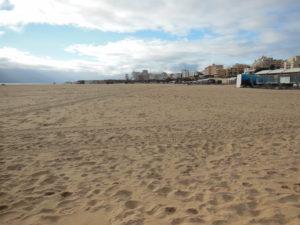 Platz am Strand